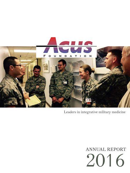 2016 Acus Annual Report Cover